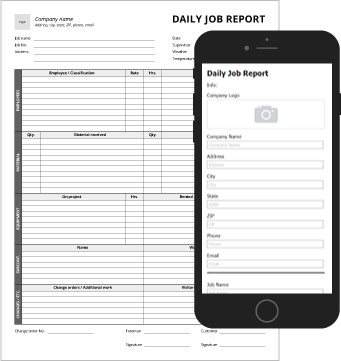 Construction Daily Log Form